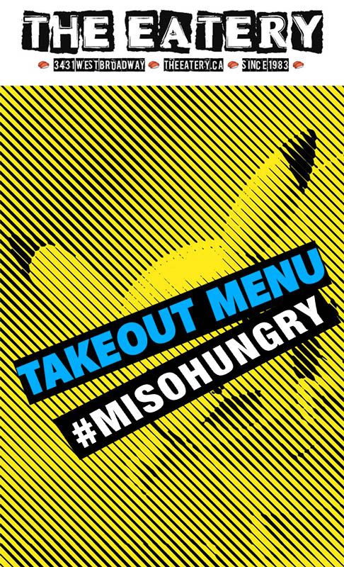 The Eatery Takeout Menu